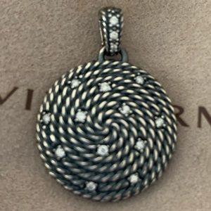 David Yurman Diamond Coil Pendant